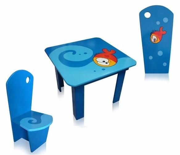 Mesa Y Silla Muebles Para Niños (mesa C/2 Sillas) Punto Bebe ...