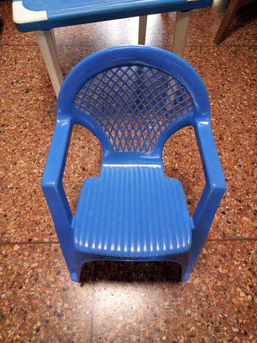 mesa y silla plástica para niños