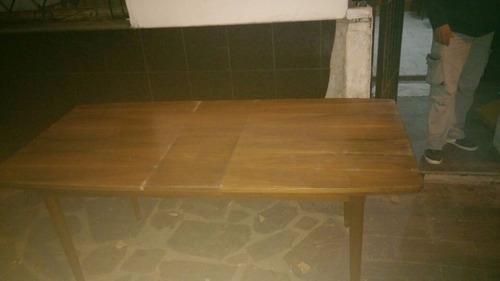 mesa y sillas antigua americana -mueble no frances- rgbiz