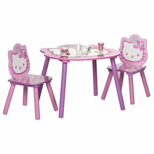 Mesa y sillas de hello kitty infantil para ni as de juegos for Mesas y sillas para ninas