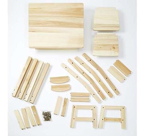 mesa y sillas de madera maciza melissa y doug, muebles para