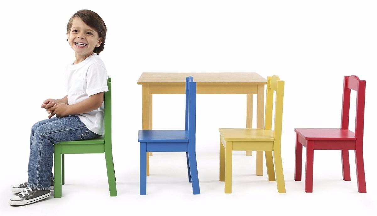 Mesa y sillas de madera ni os tot tutors excelente for Mesa y sillas ninos