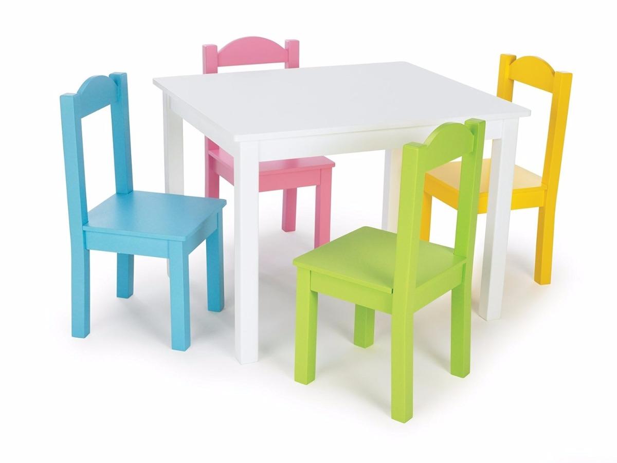 Mesa y sillas de madera ni os tot tutors excelente - Mesas madera ninos ...
