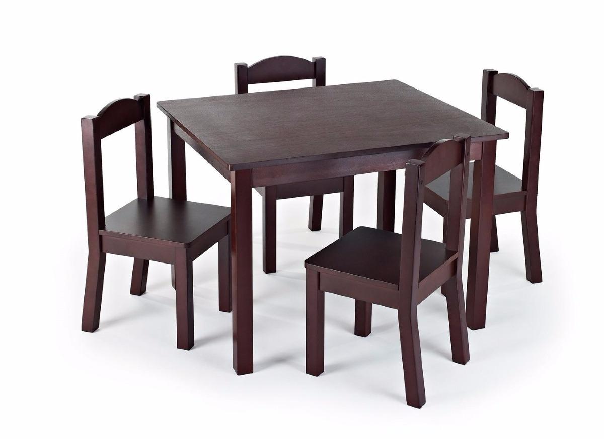 Mesa y sillas de madera ni os tot tutors excelente - Mesa y sillas para ninos de madera ...