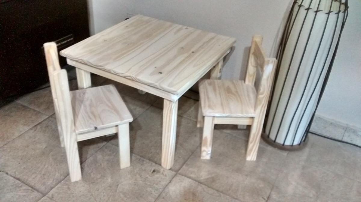 Mesa Y Sillas De Pino Para Niños - $ 1.300,00 en Mercado Libre