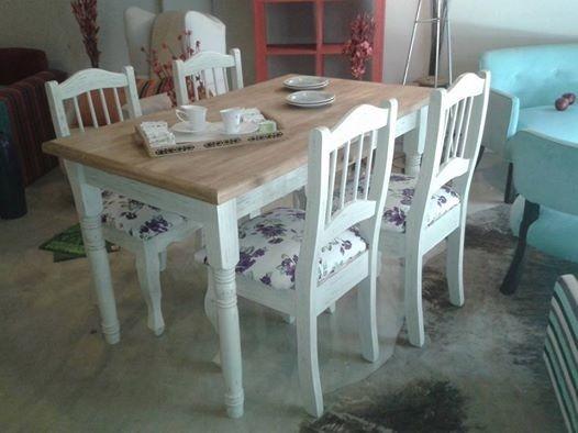 Mesa y sillas estilo provenzal stock muebles 1 20x0 70 mts - Sillas estilo provenzal ...