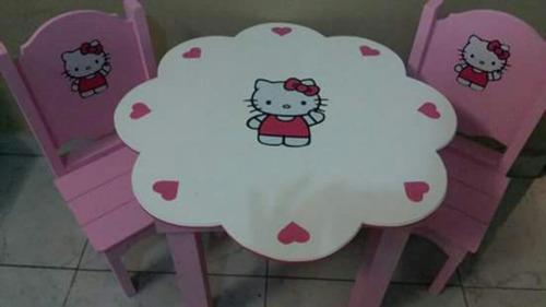 mesa y sillas infantil  flor princesita sofia .mini. frozen