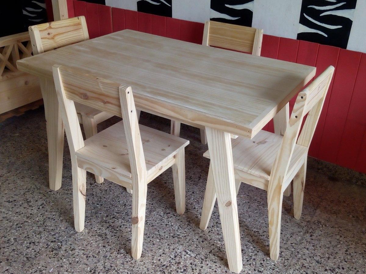 Mesa Y Sillas Linea Vintage Pino Pinetech Muebles - $ 2.650,00 en ...