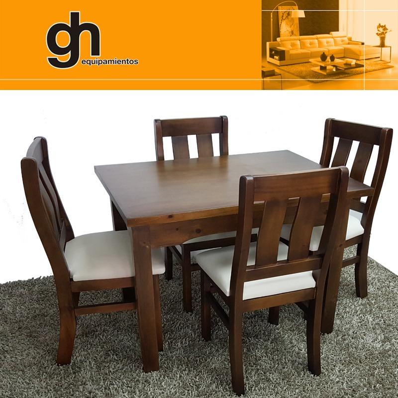 Mesa y sillas para cocina comedor living madera maciza gh for Juego de mesa y sillas para cocina