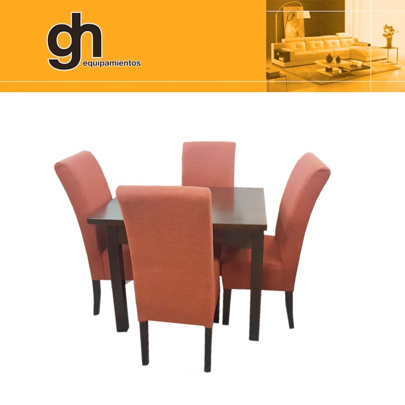 Mesa y sillas para comedor modernas minimalistas for Mesa y sillas tapizadas