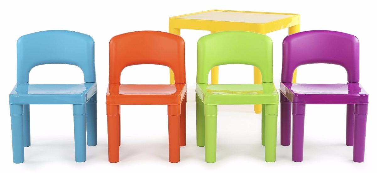 Mesa Y Sillas Para Niños De Colores Plastico - $ 1,780.00 en Mercado ...