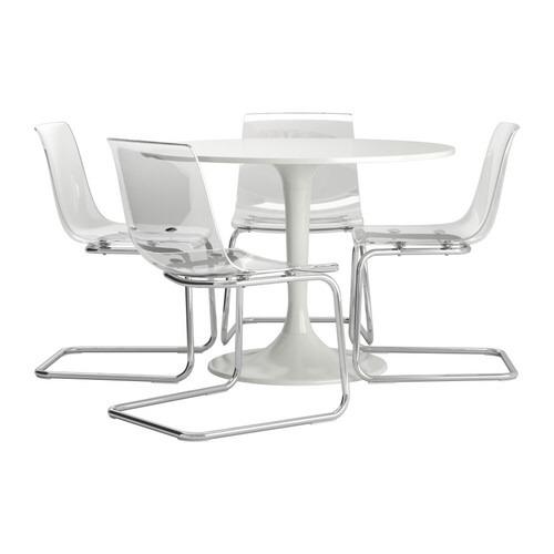 Mesa Y Sillas Transparente Ikea - $ 7.700,00 en Mercado Libre
