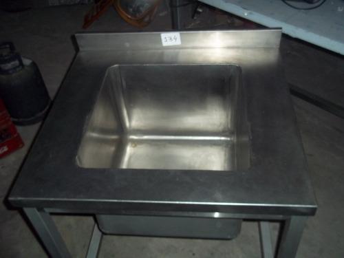 mesada acero inox c / bacha  poyin 1,70 x 0.60 gastro outlet
