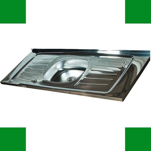 mesada con bacha acero inoxidable 160cm cocina