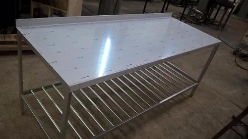 mesada  de acero inoxidable 1800x600x850