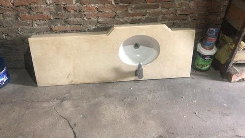 mesada de baño con bacha  con griferia fv monocomando usada