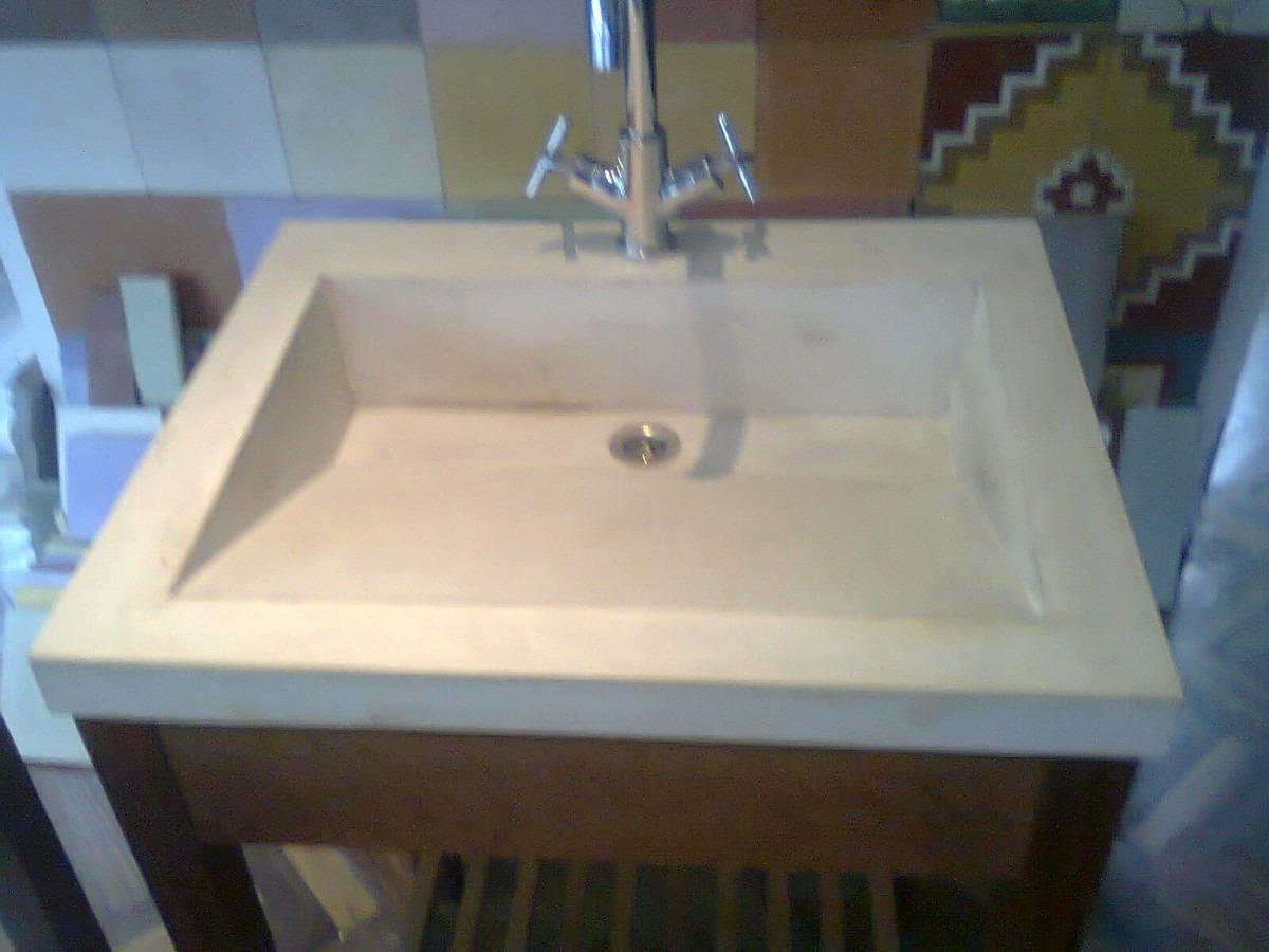 Bachas Para Baño Con Mesada:Mesada De Cemento Alisado Con Bacha De Color – $ 2900,00 en Mercado