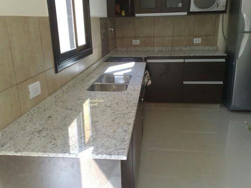 mesada de granito blanco dallas 1,50x60+zocalo+bacha