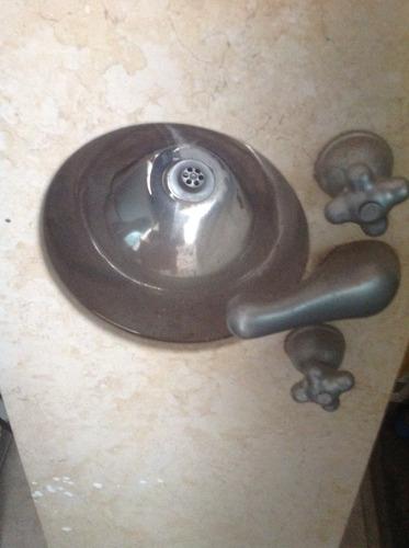 mesada de mármol c/bacha de acero inoxidable 1,33 x0,44