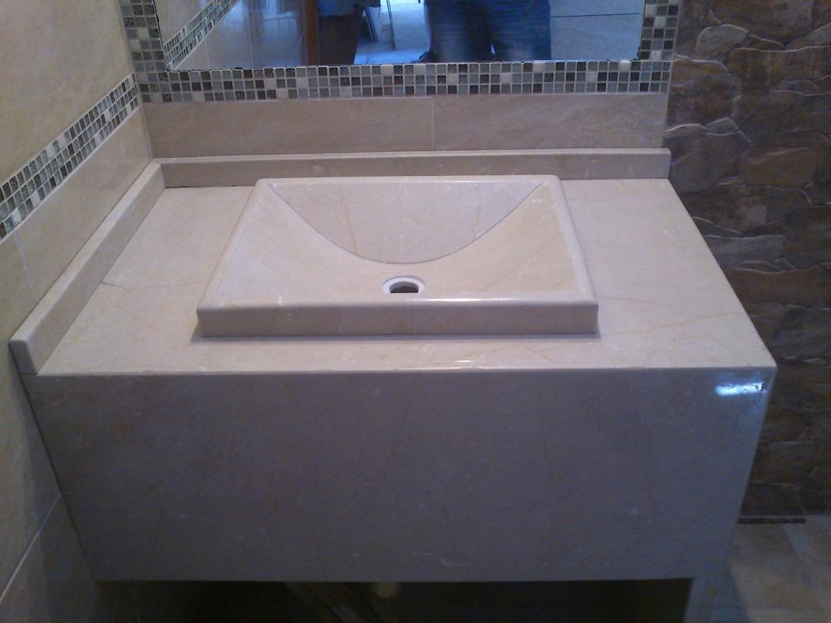 Mesada de marmol para ba o con bacha artesanal for Precios de mesadas de marmol