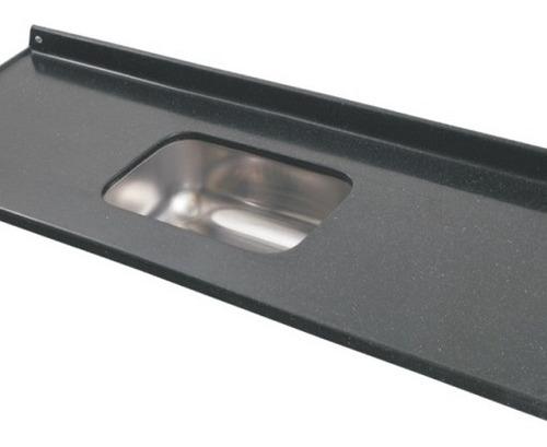 mesada durafort 1.60x0.60 / acero central c/zócalo