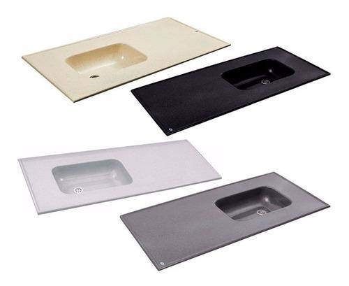 mesada durafort marmol sintetico 120cm cocina selectogar