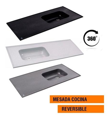 mesada marmol sintetico durafort 140x53 140 cm pileta cocina