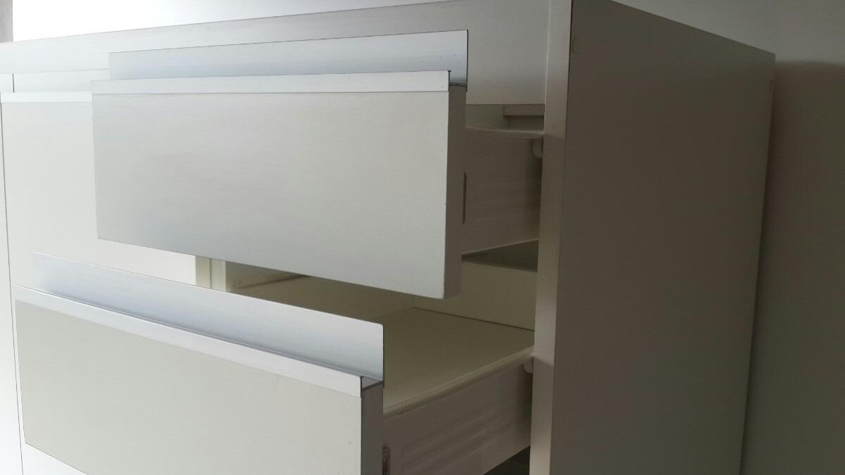 Mueble Bajo Mesada 1.20 M. Melamina Blanco Perfil Tipo Jota ...