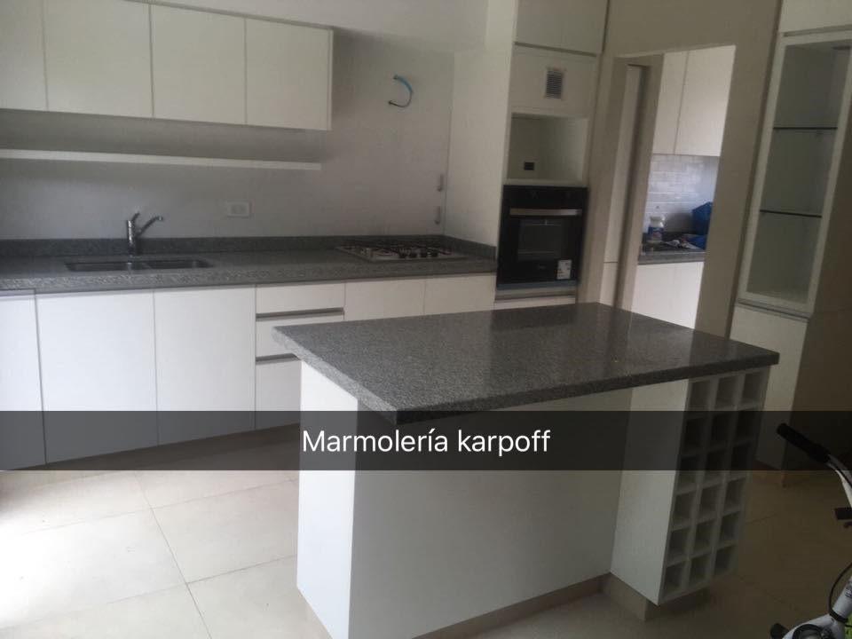Mesadas de cocina en granitos marmoles y silestone con bacha en mercado libre - Marmoles para cocinas ...