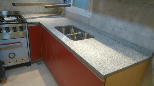 mesadas de cocina mármol granito silestone trabajos a medida
