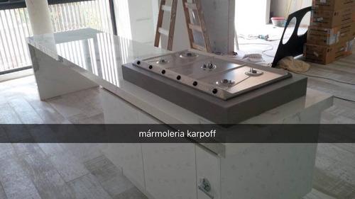 mesadas de granito 1.80 x 0,60 c/ zocalo post  y bacha simp