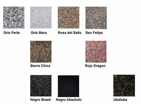 Granito nacional colores latest trendy cambiar color for Granito para mesadas