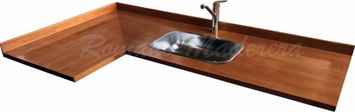 mesadas de madera para cocinas y desayunadores