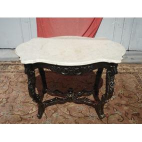 muebles de sala de estilo colonial Antigua Mesa De Sala Estilo Colonial Rioplatense Con Marmol