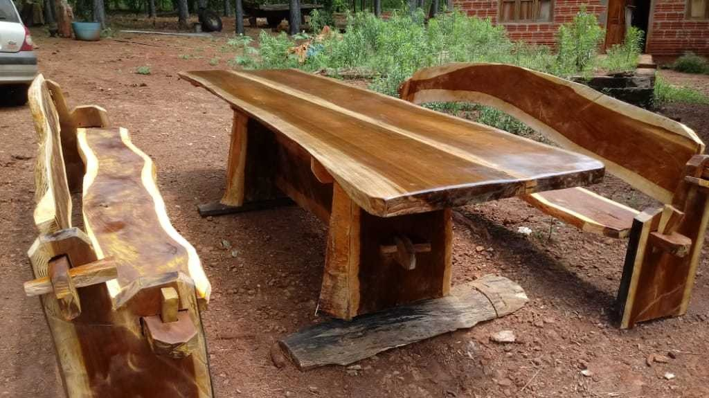 mesas bancos.