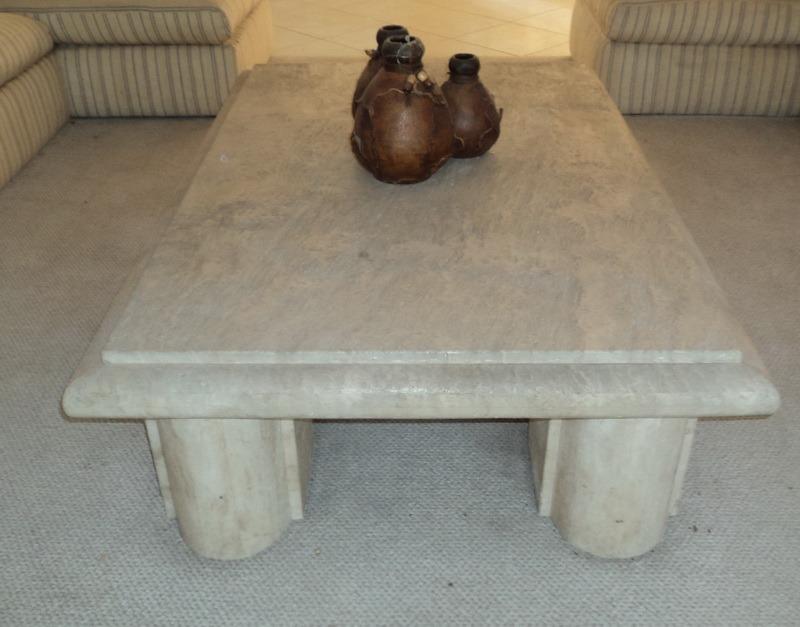 Mesas centro marmol travertino sp0 165 en - Mesa de marmol travertino ...