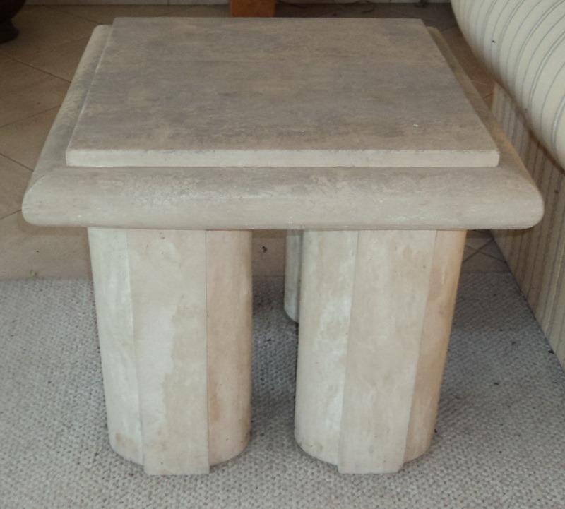 Mesas centro marmol travertino sp0 165 en for Mesa centro marmol