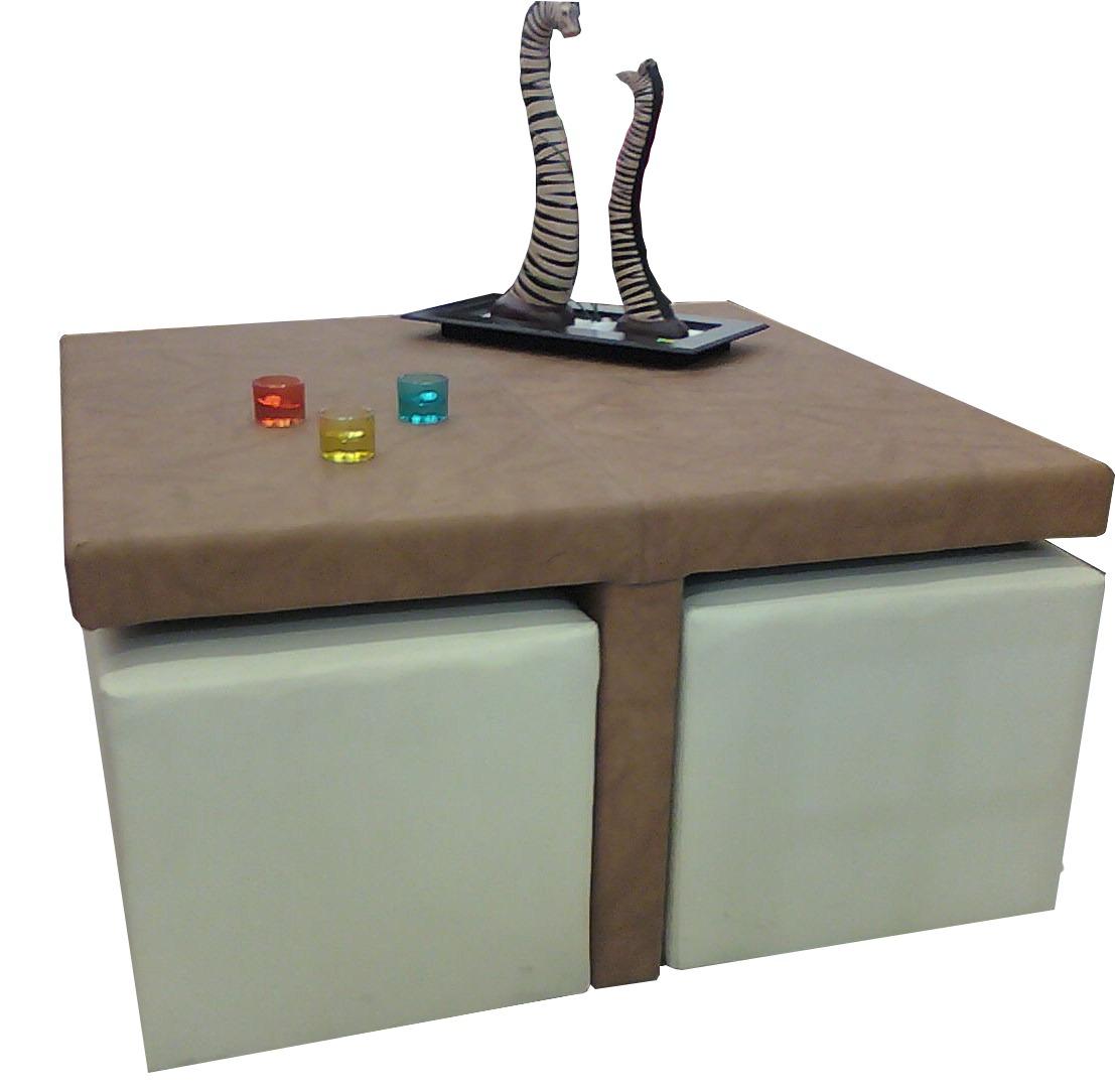 Mesas de centro minimalistas modernas 4 taburetes sala op4 - Mesas modernas de centro ...