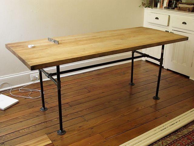 Mesas cocina o comedor industrial design ca os y tablones - Mesas comedor industrial ...