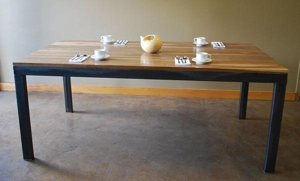 Mesas comedor de hierro y madera    3.723,00 en mercado libre