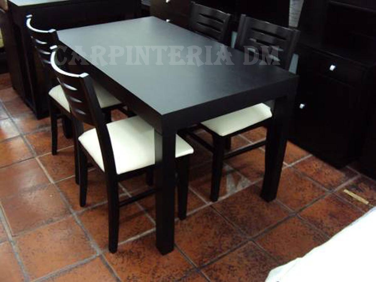 Mesas Comedor Madera 107x75cm Wengue - $ 5.896,00 en Mercado Libre