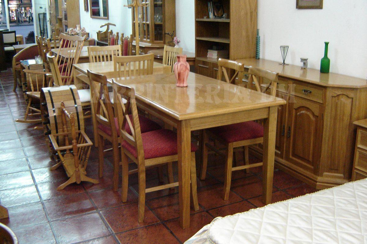 mesas comedor madera extensible 107 a 152x75cm carpinteriadm cargando zoom - Mesas De Comedor Madera