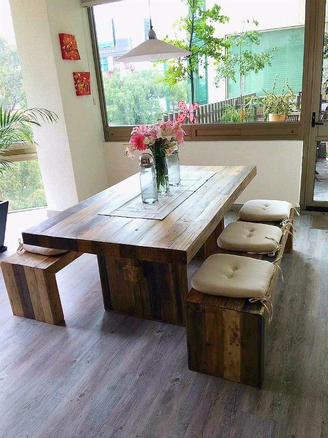Mesas Comedor Rústicas Vintage Sustentable Atu Medida 6 Pers ...