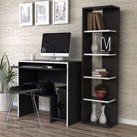 Combo mesa pc escritorio notebook biblioteca dise o moderno for Diseno de mesa para computadora