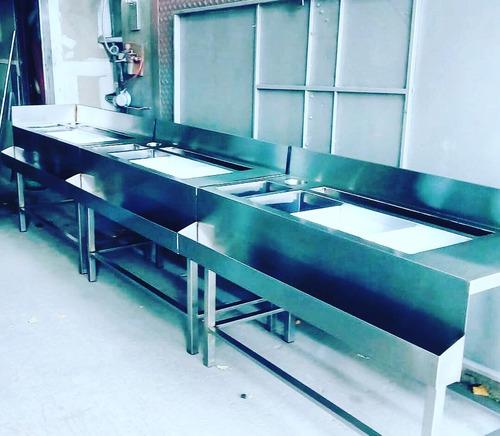 mesas de acero inoxidable bachas alquiler venta