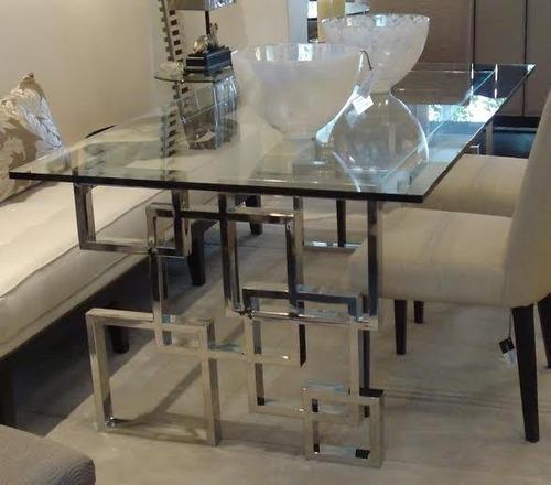 mesas de acero inoxidable: centro, comedor, lateral, sillas