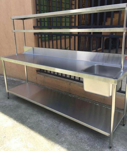 mesas de acero trabajo