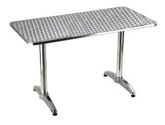 mesas de aluminio resistente al agua 60 x 120 cm resistente
