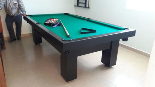 mesas de billar diferentes colores con accesorios