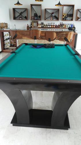 mesas de billar modernas con accesorios